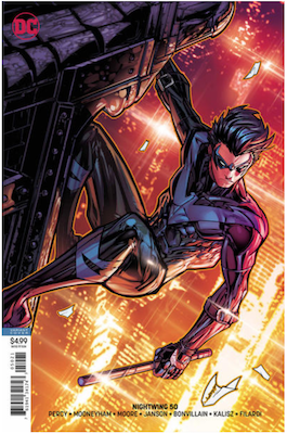 Nightwing #50 Variant cover. Click for values.