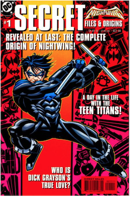 Nightwing Secret Files (1999). Click for values.