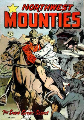 Northwest Mounties / Approved Comics #12, Matt Baker. Click for values