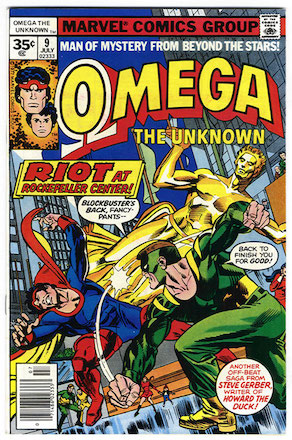 Omega the Unknown #9 Marvel 35 Cent Price Variants