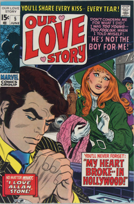 Our Love Story #5: Stan Lee story, John Romita cover. Click for values
