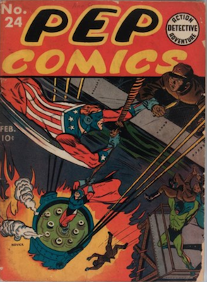 PEP Comics #24: First appearance of Coach Kleats. Click for value