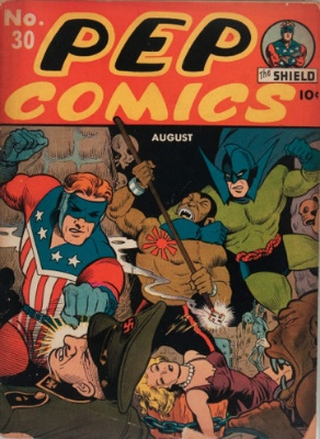 Pep Comics #30: Origin and First Appearance, Captain Commando. Click for values