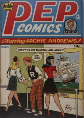 PEP Comics #60: Katy Keene stories begin. Click for value