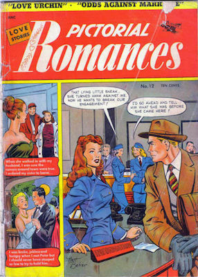 Pictorial Romances #12, Matt Baker cover. Click for values