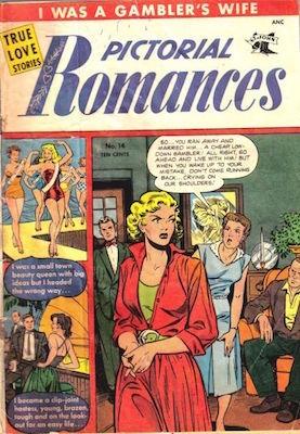 Pictorial Romances #14. Matt Baker cover. Click for values
