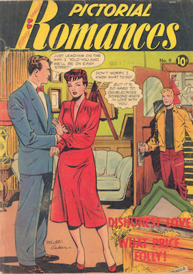 Pictorial Romances #9, Matt Baker cover. Click for values