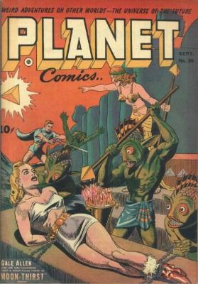 Planet Comics #26: Bondage / Bug-Eyed Monster cover