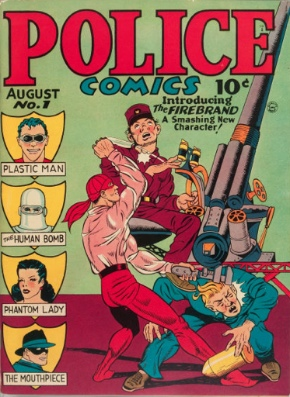 Police Comics #1: First Appearance, The Phantom Lady. Click for values