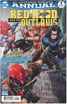 Red Hood and  the Outlaws Annual #1 (2017). Click for values.