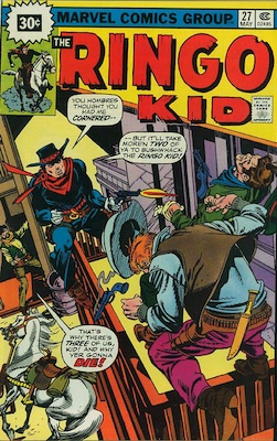 RARE! Ringo Kid #27 30c Price Variant May, 1976. Starburst Flash