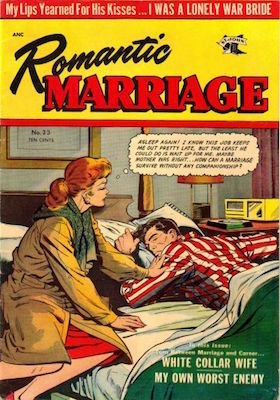 Romantic Marriage #23: Matt Baker cover. Click for values