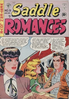 Saddle Romances #9: First issue of the series. Click for values