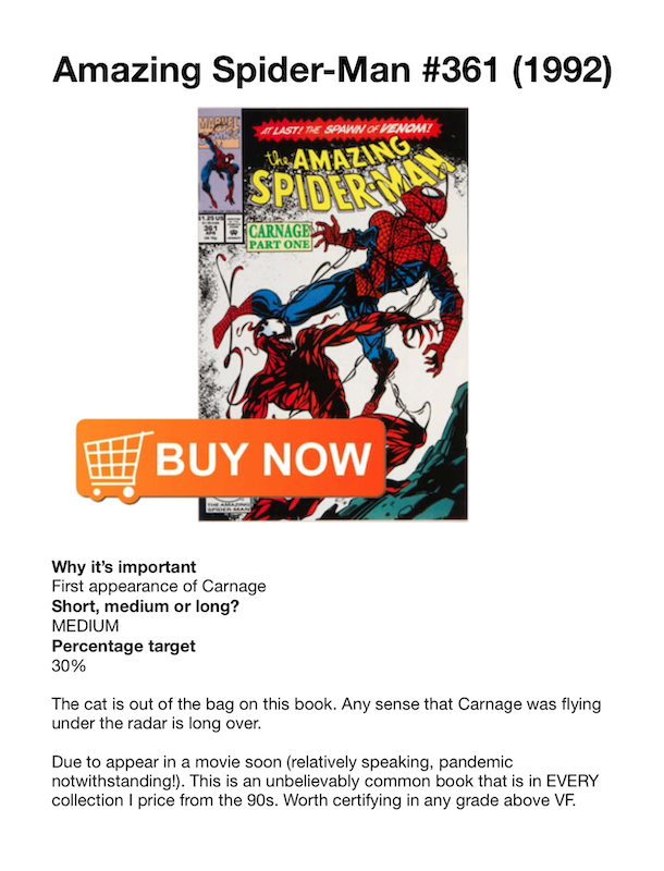 Example page from the Beginners Guide to Comic Book Investing 2018-19 eBook from https://www.sellmycomicbooks.com/
