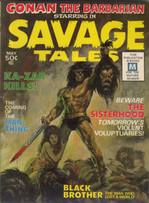 Savage Tales #1 (1971): First Appearance, Man-Thing. Click for value