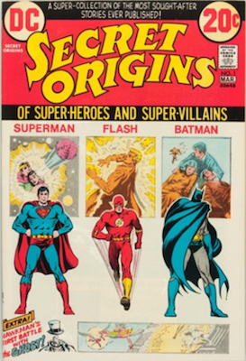 Secret Origins #1, Reprints Superman's Origin. Click for values