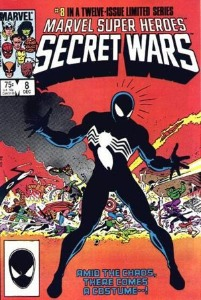 modern age comics: Marvel Super Heroes Secret Wars, first Spiderman black costume