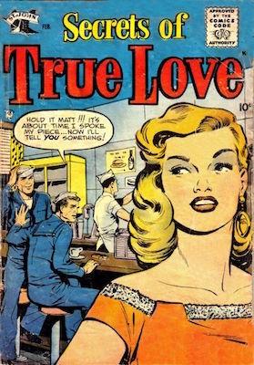 Secrets of True Love #1. Matt Baker cover art. Click for values