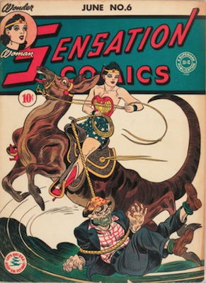 Sensation Comics #6: Origin and First Appearance, Wonder Woman's Golden Lasso. Click for value