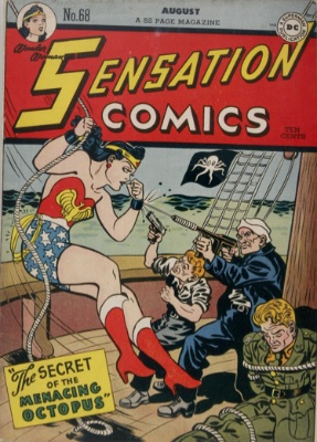 Origin and First Appearance, Tigress, Sensation Comics #68, August, 1948. Click for value