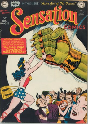 Sensation Comics #99: First Astra, Girl of the Future. Click for value