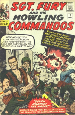 Origin and First Appearance, Nick Fury, Sgt. Fury and his Howling Commandos #1, DC Comics, 1963. Click for values