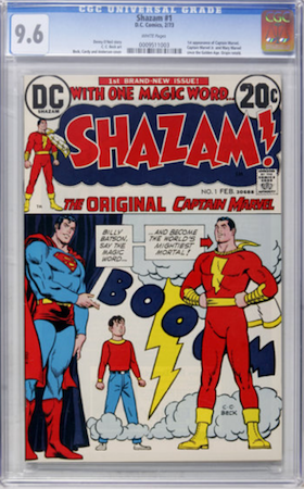 Consider buying Shazam #1 in CGC 9.6. Click to buy a copy