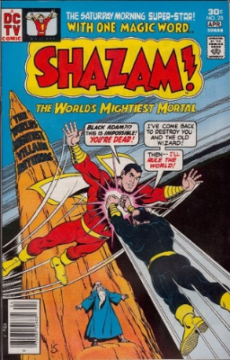 Since the Shazam! movie was announced by DC, the first re-appearance of Black Adam has rocketed in value. Shazam! #28 is the one to look for. Click for values