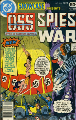 Showcase #104: Final Issue, Spies at War. Click for values
