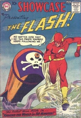 Showcase #13: third Appearance of the Silver Age Flash. Click for values