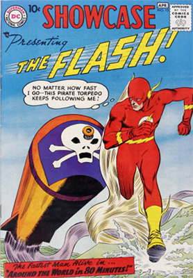 Showcase #13: Third Silver Age appearance of Flash. Click for values