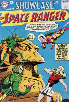 Showcase #16 (1958): Second Appearance of Space Ranger (Rick Starr). Click for values