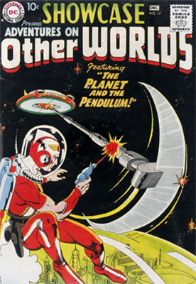 Showcase #17: Adventures on Other Worlds. Origin and first appearance of Adam Strange. Click for values