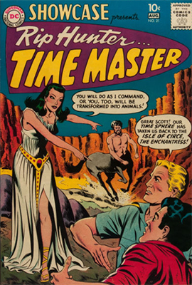 Showcase #21: Second appearance of Rip Hunter, Time Master. Click for values