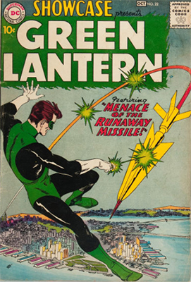 First Appearance, Green Lantern (Hal Jordan), Showcase #22, DC Comics, 1959. Click for value