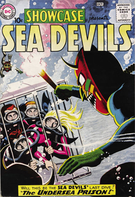 Showcase #28, second appearance of the Sea Devils. Click for values