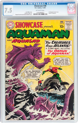 Showcase #30 is a tough book in any grade, but a nice VF- CGC 7.5 is good value compared to a 6.0 or 8.0. Click to buy one