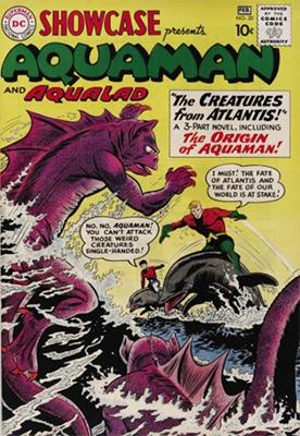 Hot Comics #38: Showcase #30, 1st Aquaman of the Silver Age, 1st Aqualad. Click to buy a copy