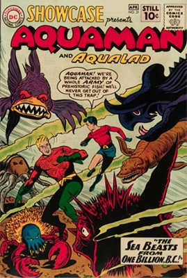 Showcase #31: Aquaman and Aqualad appearances. Click for values