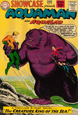 Showcase #32: Aquaman and Aqualad appearances. Click for values