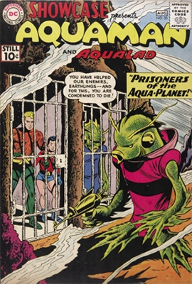 Showcase #33: Aquaman and Aqualad appearances. Click for values