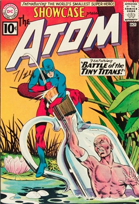 Showcase #34 first Silver Age Atom. Click for values