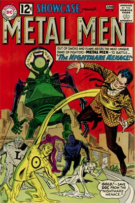 Showcase #38 (1962): Metal Men appearance. Click for values