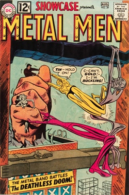 Showcase #39 (1962): Metal Men appearance. Click for values