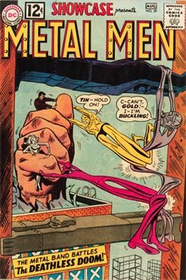Showcase #39 (1962): Metal Men appearance. Click for values