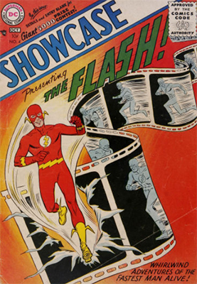 Showcase #4 (1956). A key Flash comic book and rare in fine or better grade
