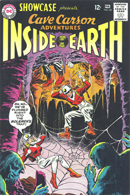 Showcase #48: Cave Carson appearance. Click for values