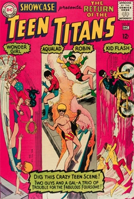 Showcase #59: third appearance of the Teen Titans. Click for values