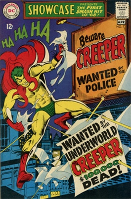 Showcase #73 (April 1968): Origin and first appearance of The Creeper. Click for values