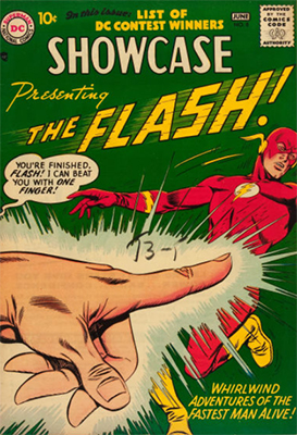 Showcase Comic #8, second appearance of the Silver Age Flash. Click for values